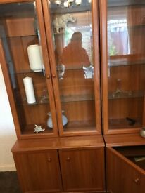 Free to collect display cabinets