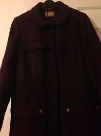 Brand new women's Bordeaux coat - Per una brand