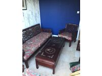 Chinese rosewood coffee table with inlay
