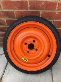 Peugeot 108 space saver spare wheel