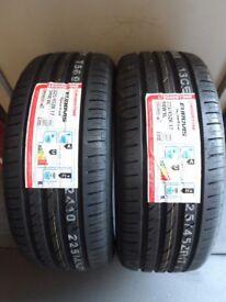 2 x Roadstone Eurovis Sport 04 225/45 ZR17 94W XL tyres. Brand new. 225/45/17