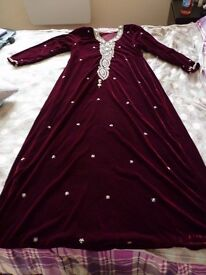 Luxurious velvet abaya / dress , never been worn
