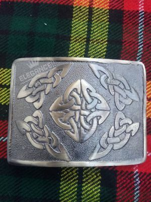 Scottish Celtic Oval Kilt Belt Buckle Antique Finish/Highland Kilt Belt Buckle