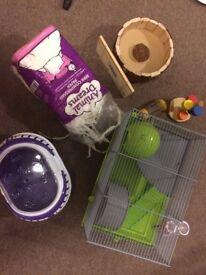 Hamster, rat, mouse cage plus accessories