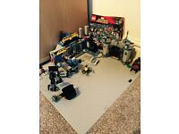Lego super heroes set with grey board