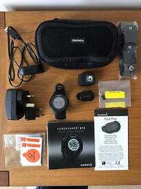 Garmin Forerunner 610 GPS Running Watch with Heart Rate Monitor, Garmin foot pod and carrying case.