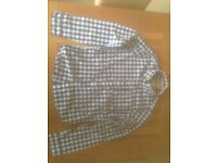 Hollister men's navy checkered shirt (large; slim fit) (never worn) JUST REDUCED