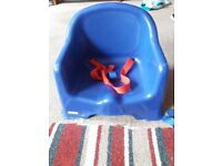 Blue highchair seat