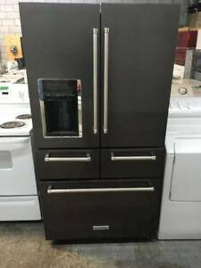 196- Refrigerateur/Frigo 5 Portes KITCHEN AID Black Stainless 5 Doors Refrigerator/Fridge