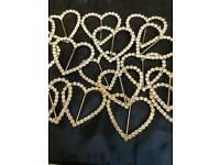 Diamante Buckles ribbon sliders