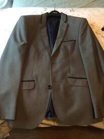 Burtons Grey Slim Suit