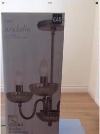 Next Arabella 3 arm ceiling light In excellent condition