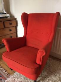 Beautiful Red Ikea armchair