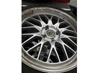4×100 alloys with tyres