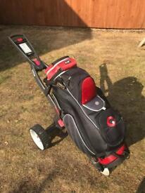 Electric golf trolley & bag