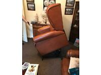Electric leather recliner chairs and sofa