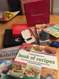 Weight Watchers at Home set with recipe books