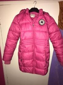 Girls padded converse jacket - age 8-10 years