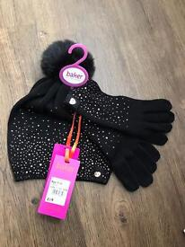 Ted Baker girls hat and gloves set - age 7-10