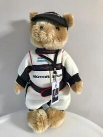 BNIB Porsche motorsports plush teddy bear