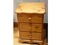 pine bed side table bedside