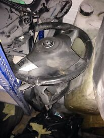 Vauxhall corsa steering wheel with airbag