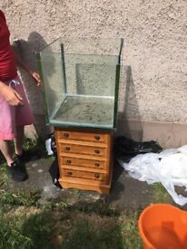 50 cm Cube Tank with Perspex lid and clips. Can come with stand