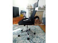 HOMCOM Swivel Chair For Office High Back Mesh Office Desk Chair Executive Chair-Black