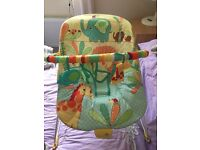Bright Starts vibrating baby bouncer chair