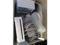 Nintendo Wii with 4 games and 4 controllers