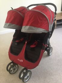 City mini baby jogger double pram