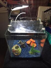 27 Litre fish tank with led light