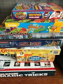 Board games and magic set