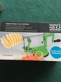 Apple peeler corer and slicer