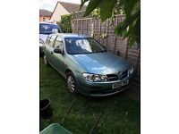Nissan Almera low mileage - MOT and reliable cheap car
