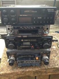 Old car radios and speakers