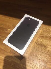 NEW UNCLOCKED STILL SEALED IPHONE 7 32G MATT BLACK