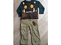 2 x top and trousers sets, size 2-3yrs