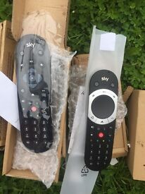 3 sky Q touch remotes and 3 skyQ standard remotes