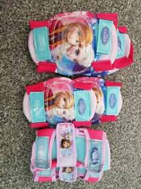 Disney Frozen Knee & Elbow Pads & Wrist Supports - like new