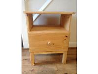 Wood bedside table