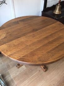 Extremely Heavy Solid Oak Table in Excellent Condition