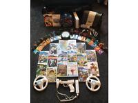 Nintendo Wii Console Bundle [18 GAMES | OFFICIAL WII CASE | GUITAR HERO | SKYLANDERS]