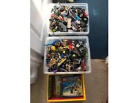 2 boxes of mixed lego