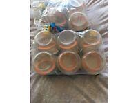 9 Kilner jars never used