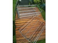 Metal pull out kitchen shelves from ikea x4