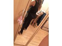 River Island Jumpsuit/ front zip/ leopard front / black back size 14 £0.00