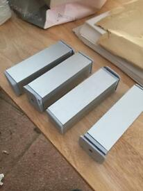Adjustable silver cabinet legs for DIY