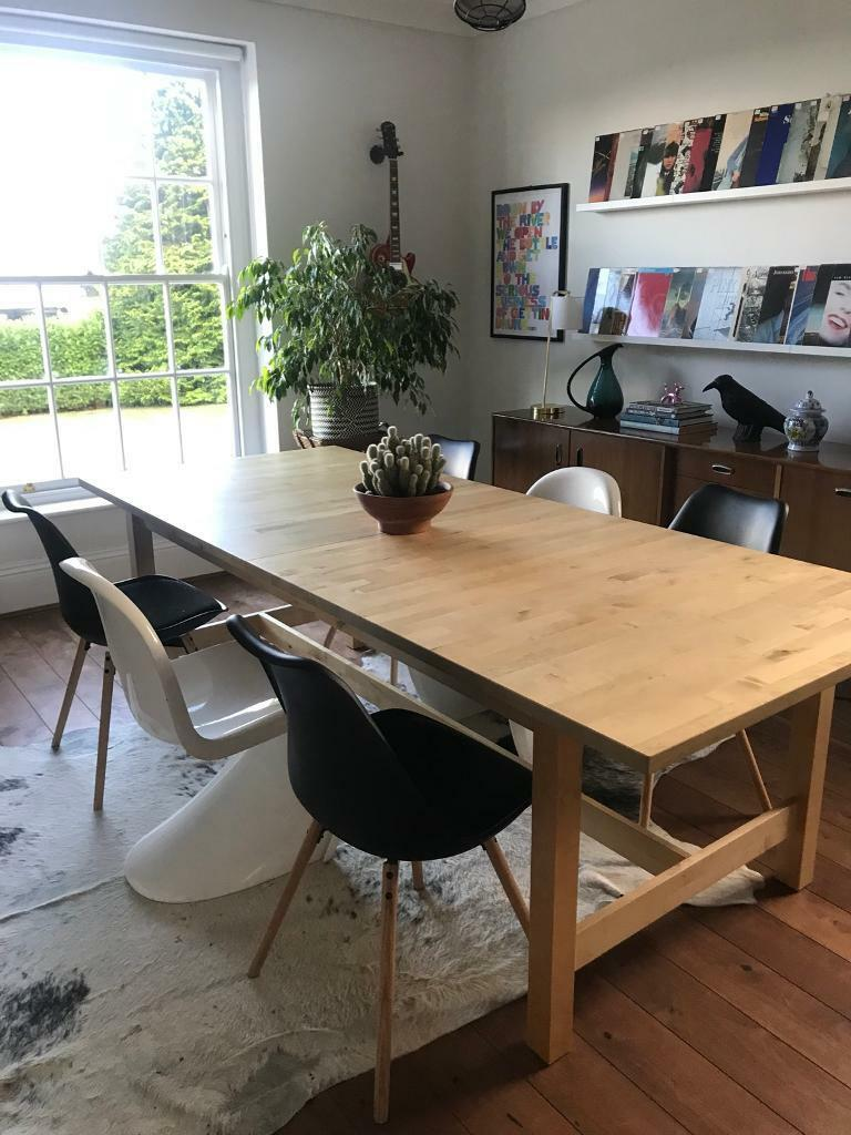 ikea norden dining table 240 unextended length in york. Black Bedroom Furniture Sets. Home Design Ideas