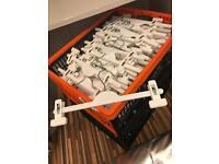 180x white plastic Trouser hangers - 30cm
